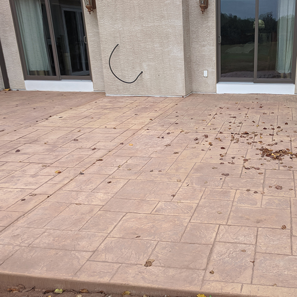 GSI Concrete stamped concrete patio after | GSI Concrete