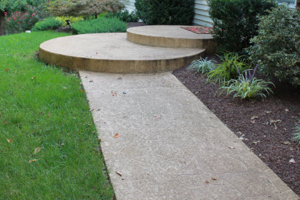 patio and walkway concrete